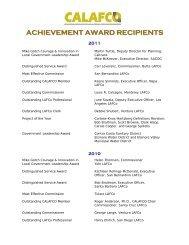 Achievement award recipients - calafco