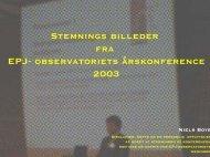 stemningsreportage udarbejdet af Niels Boye - EPJ-Observatoriet