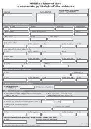 Přihláška k dobrovolné účasti na nemocenském pojištění ...