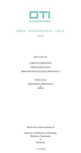 Omeo tossicologici italia - Universal Healings Arts