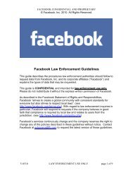 Facebook Law Enforcement Guidelines - Public Intelligence