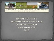 hardee county proposed property tax constitutional ... - qPublic