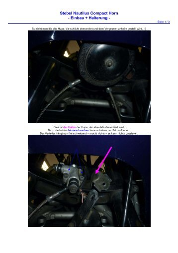Stebel Nautilus Compact Horn - Einbau + Halterung - - Fj1200-3cv.de