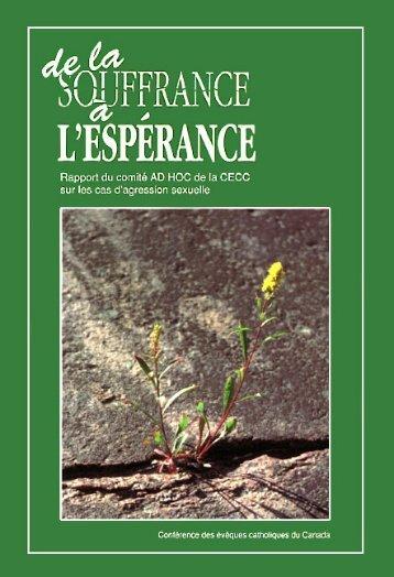 De la souffrance à l'espérance - Conférence des évêques ...