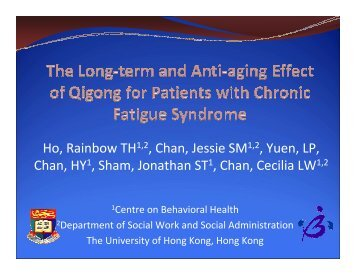The Long-Term and Anti-aging Effects of Qigong on Patients with ...