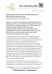 Presseinformation Sappi European Printers of the Year 2008: Gold ...