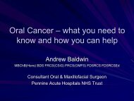 Oral Cancer – what you need to know and how you can help