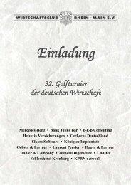 Einladung, PDF - Wirtschaftsclub Rhein-Main e.V.