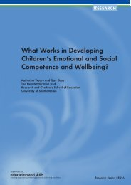 What Works in Developing Children's Emotional and Social ...