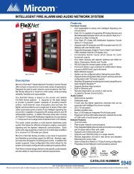 intelligent fire alarm and audio network system - Mircom