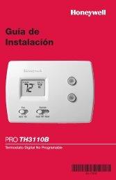 TH3110B Termostato Digital No Programable Guía de Instalación