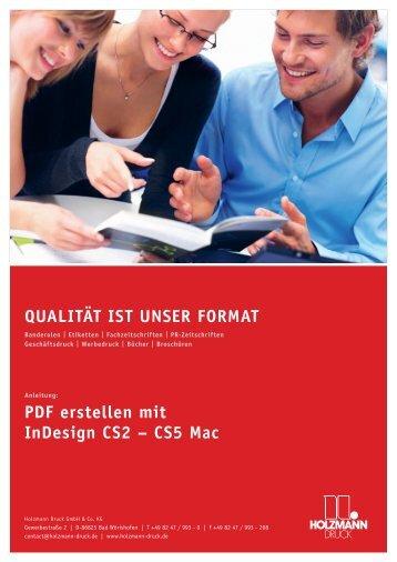 PDF erstellen mit InDesign CS2 – CS5 Mac QUALITÄT IST UNSER ...