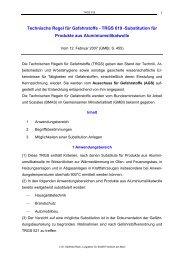 Technische Regel für Gefahrstoffe - TRGS 619 -Substitution für ...