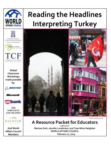 Reading the Headlines Interpreting Turkey - World Affairs Council