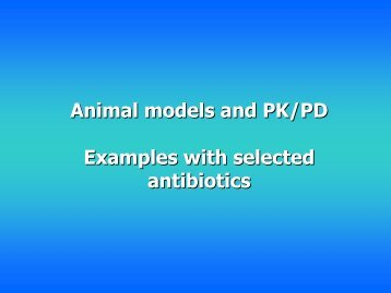 examples with selected antibiotics
