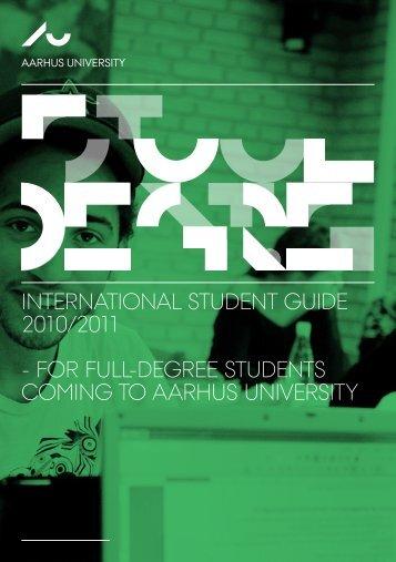 INTERNATIONAL STUDENT GUIDE 2010/2011 - FOR FULL ...