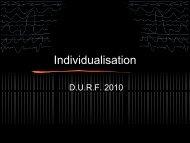Présentation orale individualisation 2010 - c2hnbs.com