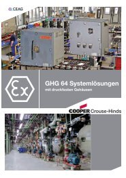 GHG 64 Systemlösungen - Cooper Crouse-Hinds