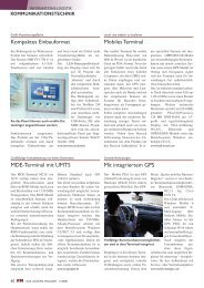 Mobiles Terminal Kompaktes Einbauformat Mit integriertem GPS ...