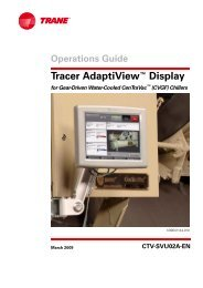 Operations Guide Tracer AdaptiView™ Display for Gear ... - Trane