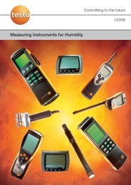 Measuring Instruments for Humidity - Lontek