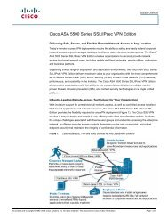 Cisco ASA 5500 Series SSL/IPsec VPN Edition - take IT now
