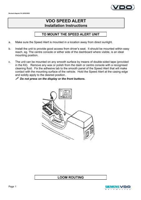 Vdo Trim Gauge Wiring Diagram