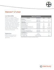 Makrolon® LF sheet - Sheffield Plastics