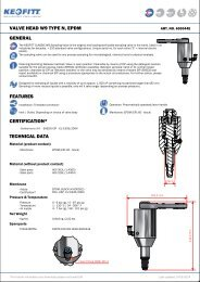 valve head w9 type n, epdm general features certification ... - Keofitt