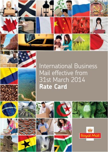 International Flats ratecard (PDF - 315 KB) - Royal Mail