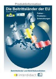 Die Beitrittsländer der EU