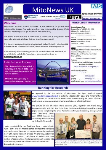 MitoNews UK - The Rare Mitochondrial Disease Service for Adults ...