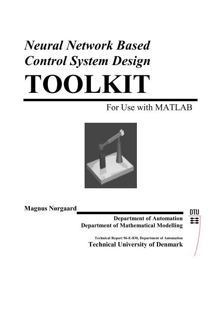 Neural Network Based Control System Design TOOLKIT - Automation