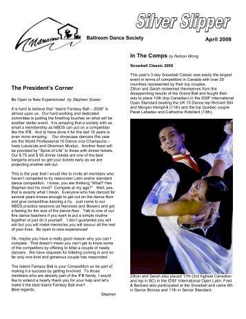 The President's Corner - Nanaimo Ballroom Dance Society