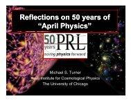 Reflections on 50 years of Reflections on 50 years of - timeline.aps.org