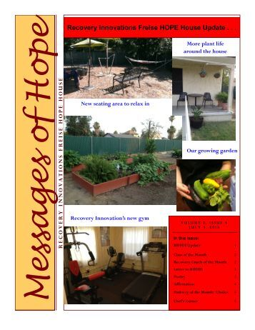 RI Hope House - Kern County Newsletter Issue 13 - Recovery ...