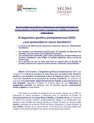 El diagnóstico genético preimplantacional (DGP) - Sociedad ...