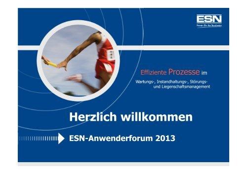 Neue Produkte und Projekte der ESN
