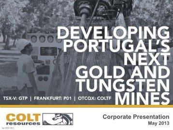 Corporate Presentation - Colt Resources