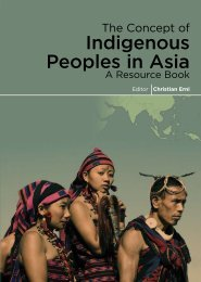 The Concept of Indigenous Peoples in Asia - IILJ