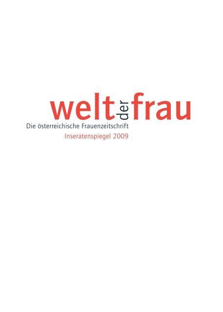 Die österreichische Frauenzeitschrift Inseratenspiegel 2009