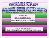 Non-equilibrium vortex states