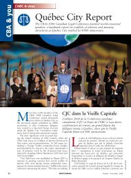 Québec City Report - Creativity in the legal practice