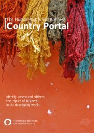 Country Portal Pilot - The Human Rights and Business Project