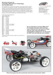 Mounting instruction for Competition 4WD Off-Road 1:6 Baja Buggy ...