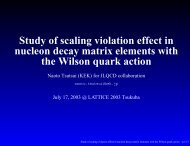Study of scaling violation effect in nucleon decay matrix elements ...