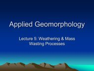 Lecture 4: Weathering and Mass Wasting