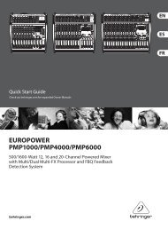 EUROPOWER PMP1000/PMP4000/PMP6000 - Parts Express