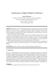 Architecture as Object Models of Software - Citeseer