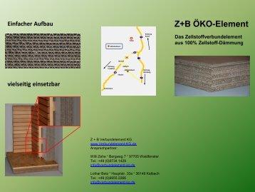 Z+B ÖKO-Element - Z+B Verbundelement KG